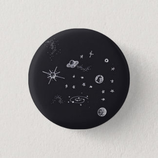 Space Planets 1 Inch Round Button