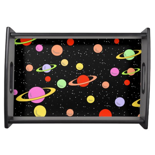 SPACE PLANETS STARS SERVING TRAY