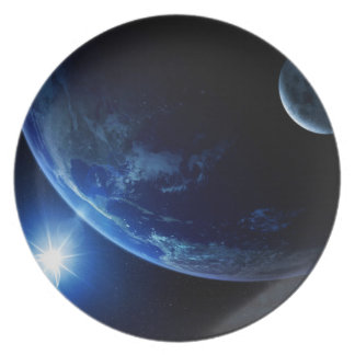 Space Plate 5 - Blue Earth