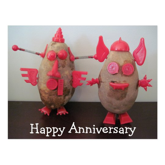 Space Potatoes Happy Anniversary Postcard