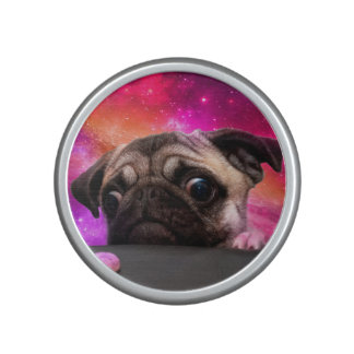 space pug - pug food - pug cookie bluetooth speaker