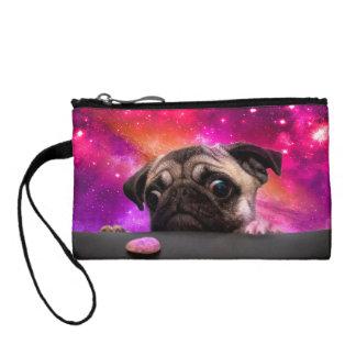 space pug - pug food - pug cookie coin purse
