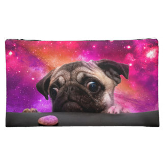 space pug - pug food - pug cookie makeup bag
