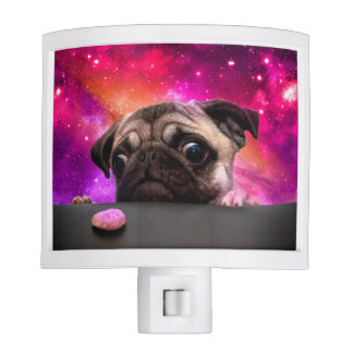 space pug - pug food - pug cookie night lite
