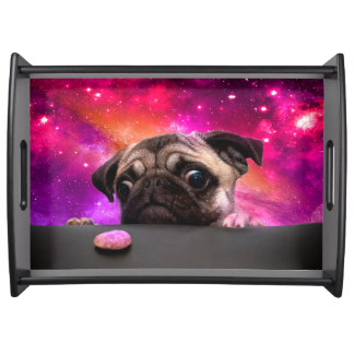 space pug - pug food - pug cookie serving tray