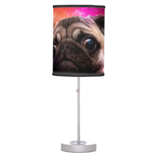 space pug - pug food - pug cookie table lamp