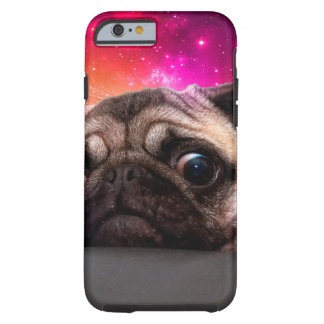 space pug - pug food - pug cookie tough iPhone 6 case