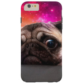 space pug - pug food - pug cookie tough iPhone 6 plus case