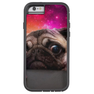 space pug - pug food - pug cookie tough xtreme iPhone 6 case