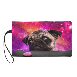 space pug - pug food - pug cookie wristlet
