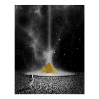 Space Pyramid Poster