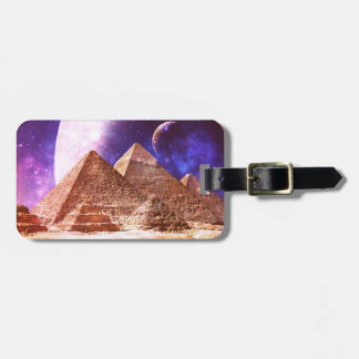 Space Pyramids Luggage Tag