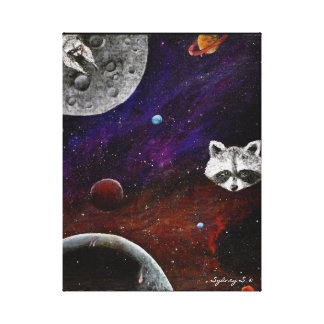 Space Raccoons Canvas Print