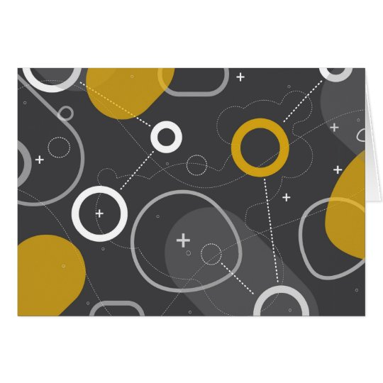 Space Race Abstract Card