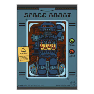 Space Robot Box Toy Poster