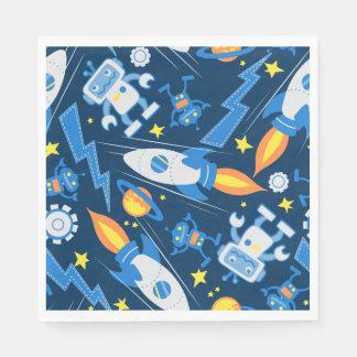 Space robot disposable napkin