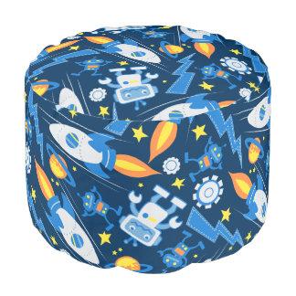 Space robot pouf
