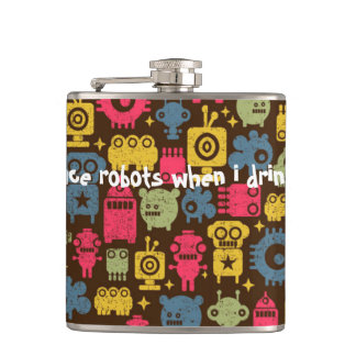 Space Robots Flask funny gift
