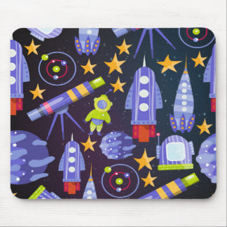 Space Rocket Mouse Pad