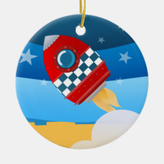Space rocket - ornament
