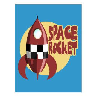 Space Rocket Postcard