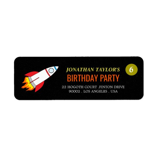 Space Rocket to the Moon Children's Birthday