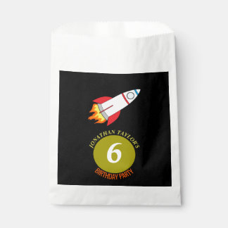 Space Rocket to the Moon Children's Birthday Favour Bag