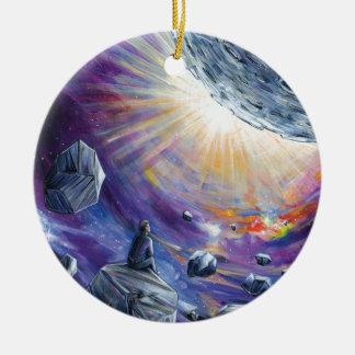 Space Round Ceramic Ornament