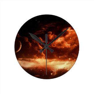 Space Round Clock