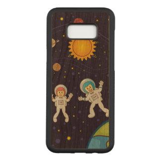 Space Samsung Galaxy S8+ Slim Cherry Wood Case