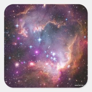 Space Scene Square Sticker
