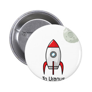 Space ship and Planet 2 Inch Round Button