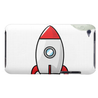Space ship and Planet Barely There iPod Case