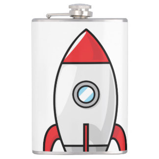 Space ship and Planet Hip Flask