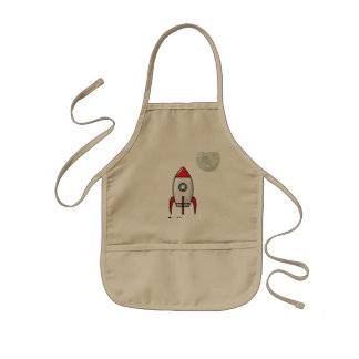 Space ship and Planet Kids Apron