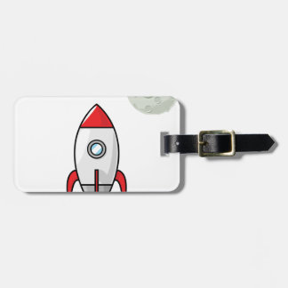 Space ship and Planet Luggage Tag