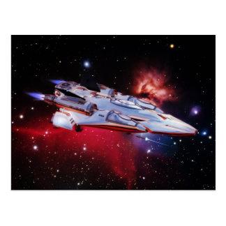 Space Ship Postcard