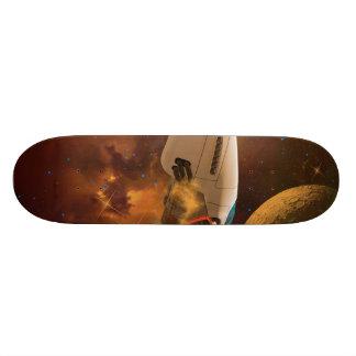 Space ship skateboard decks