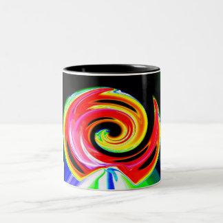 Space ship trail Two-Tone coffee mug