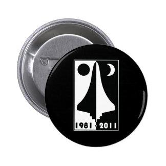 Space shuttle 2 inch round button
