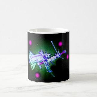 Space shuttle and station coffee mug
