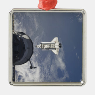 Space Shuttle Atlantis and a Russian spacecraft Metal Ornament
