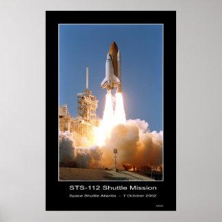 Space Shuttle Atlantis Blast-off – October 7, 2002 Poster