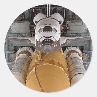 Space Shuttle Atlantis Round Sticker