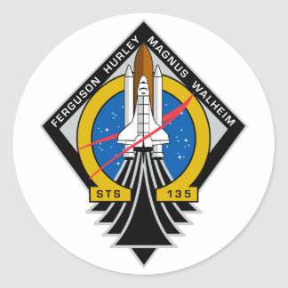 Space Shuttle Atlantis Round Sticker