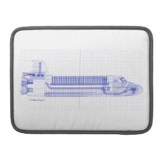 Space Shuttle Blueprints MacBook Pro Sleeve