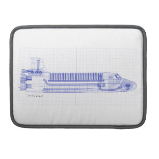 Space Shuttle Blueprints Sleeve For MacBook Pro