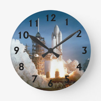 Space Shuttle Columbia Blasts Off Round Clock
