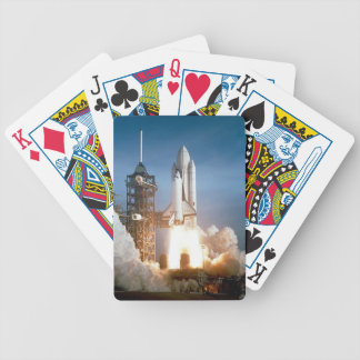 Space Shuttle Columbia launching Bicycle Playing Cards