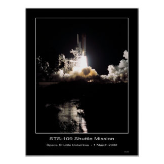 Space Shuttle Columbia Lift-off – March 1, 2002 Poster